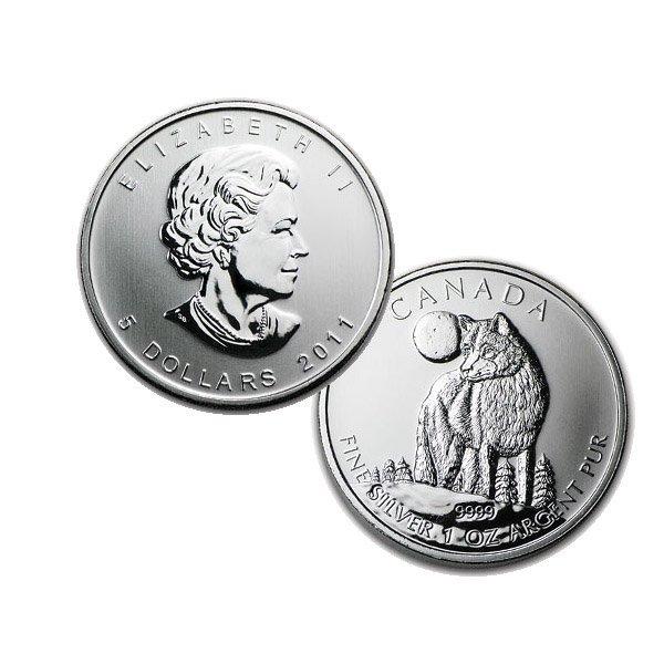2011 1 Oz BU Canadian Silver Wolf