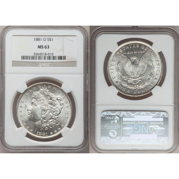 1881-O $1 Morgan Silver Dollar MS63 NGC