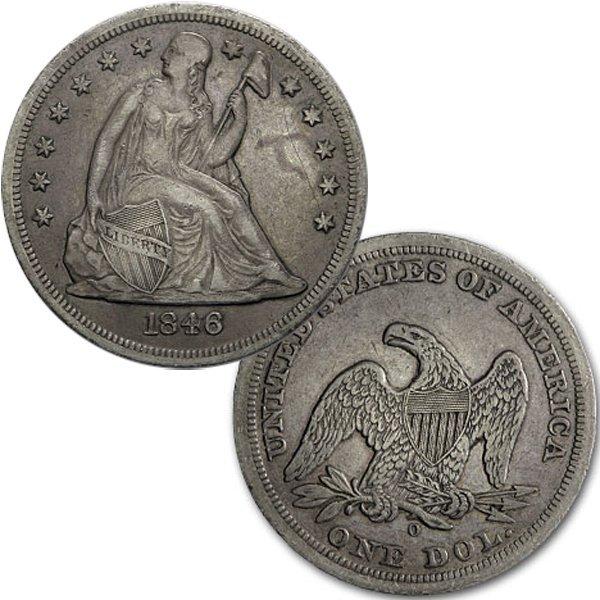 1846-O Liberty Seated Silver Dollar - Extra Fine