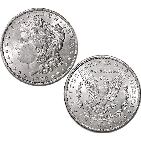 1900-O $1 Morgan Silver Dollar - Brilliant Uncirculated
