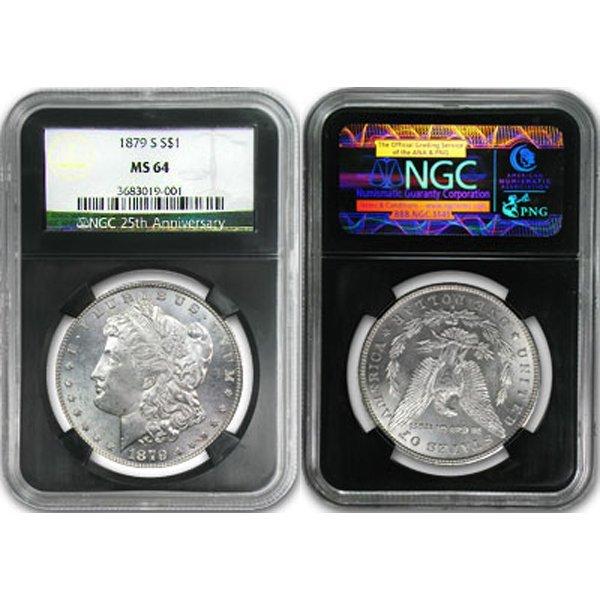 Morgan Dollar MS64 NGC 25th Ann - Random Date!
