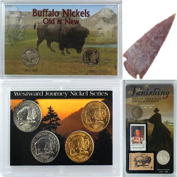 Native American Collection - 8coin 2stamp 1arrowhead