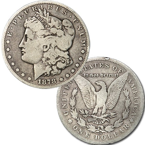 1878-CC $1 Morgan Dollar - Very Good