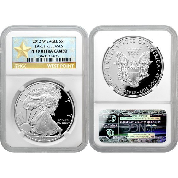 2012-W Proof Silver Eagle Star Label ER PF70 NGC