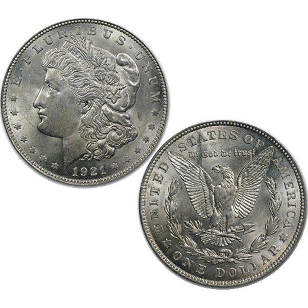 1921-D BU Morgan Silver Dollar