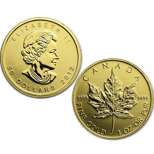 1 Oz BU 24k Gold Canadian Maple Leaf - Random Date!