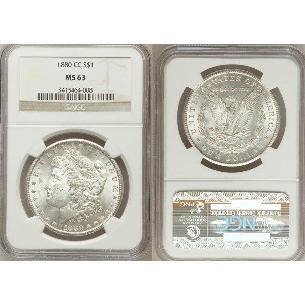 1880-CC $1 Morgan Silver Dollar MS63 NGC