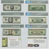 20$ 1950 UNC64 - 1999 UNC67 - 2004 UNC67 PMG