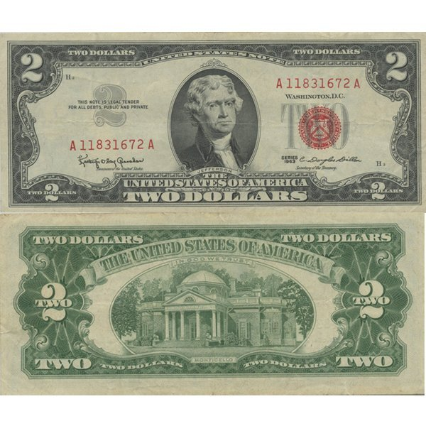 1963 $2 Red Seal Note