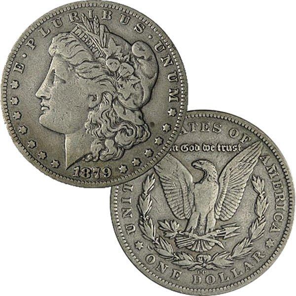 1879-CC $1 Morgan Silver Dollar - Very Fine
