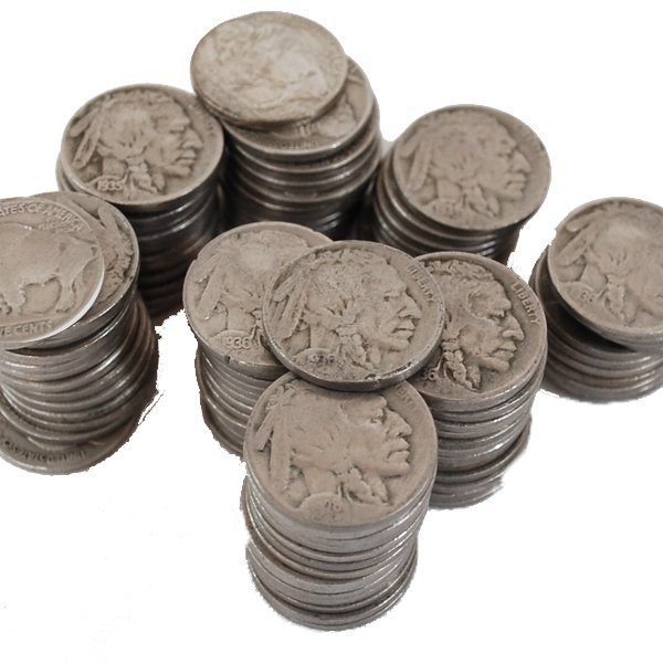 (100) Buffalo Nickel - Full Date