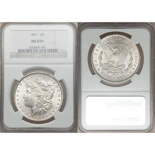 $1 Morgan Silver Dollar MS65+ NGC - Random Date!