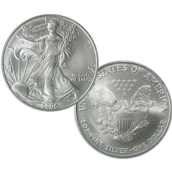 2006 1 Oz Silver Eagle - Brilliant Uncirculated