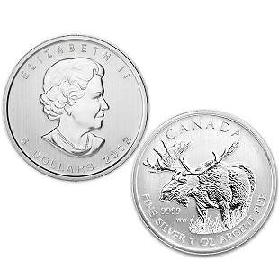 2012 1 Oz Canadian Silver Moose - Uncirculated