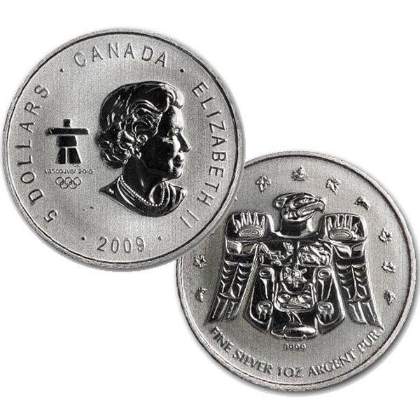 2009 1 Oz BU Canadian Silver Maple Leaf - Vancouver
