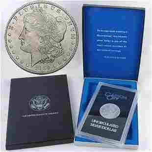 1885-CC BU GSA Morgan Dollar w/Box&CoA