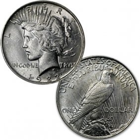 1922 $1 Peace Silver Dollar - Uncirculated