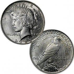 1922 $1 Peace Silver Dollar - Uncirculated