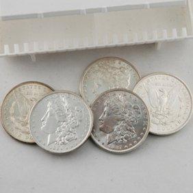 (5) Morgan Silver Dollars - Uncirculated