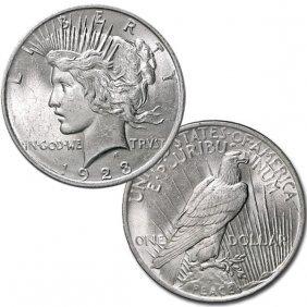 1923 $1 Peace Silver Dollar - Uncirculated