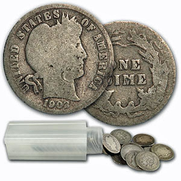 $5 Face Value of 90% Silver Barber Dimes