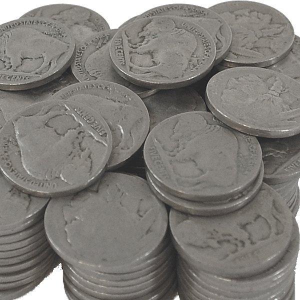 (50) Buffalo Nickel - No Date