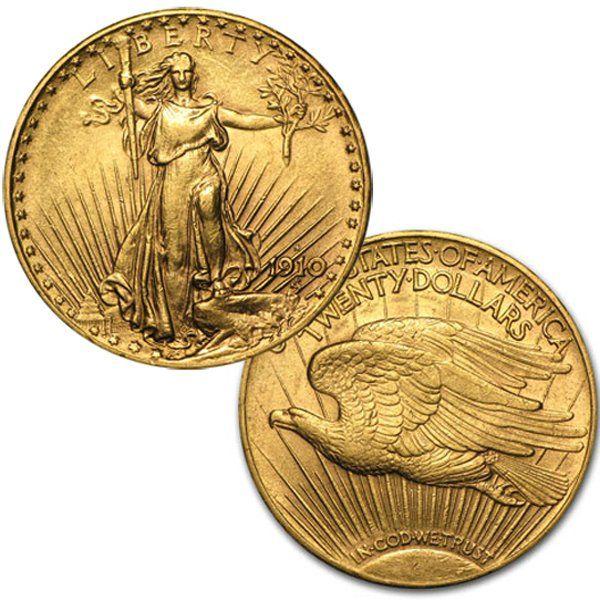 $20 AU St.Gaudens Gold Double Eagle