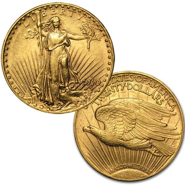 $20 AU St.Gaudens Gold Double Eagle