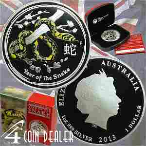 2013-P 1 Oz Proof Silver Year of the Snake