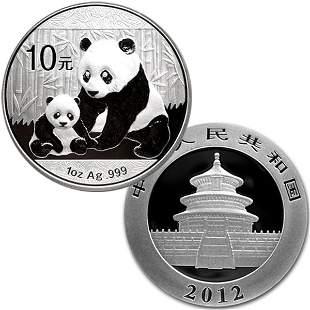 2012 1 Oz Silver Panda - Brilliant Uncirculated