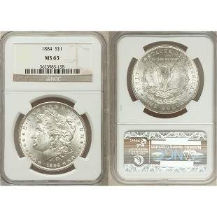 1884 $1 Morgan Silver Dollar MS63 NGC