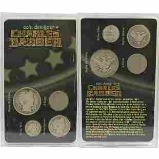 4-Coin Set Charles Barber
