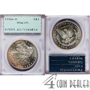 1904-O $1 Morgan Silver Dollar MS61 PL PCGS