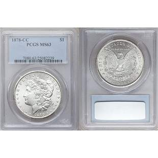 1878-CC $1 Morgan Silver Dollar MS63 PCGS