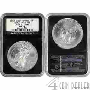 2012-(S) Silver Eagle Retro Holder ER MS70 NGC