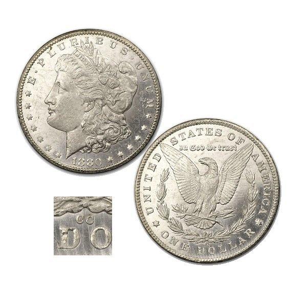 1880-CC $1 Morgan Dollar - Uncirculated