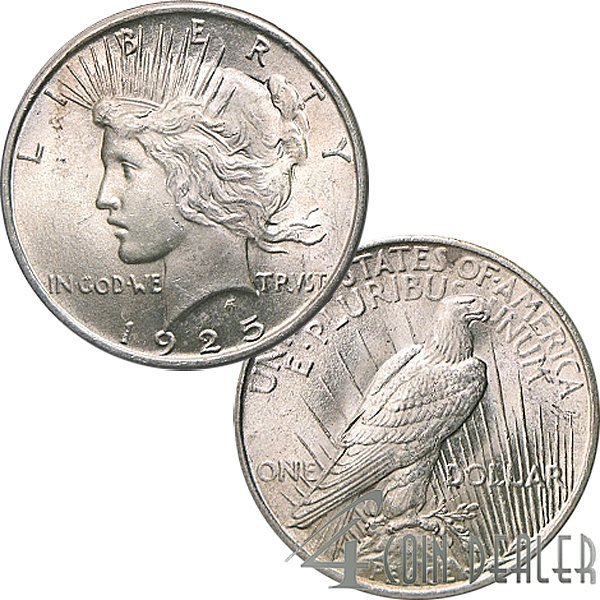 1925 $1 Peace Silver Dollar - Uncirculated