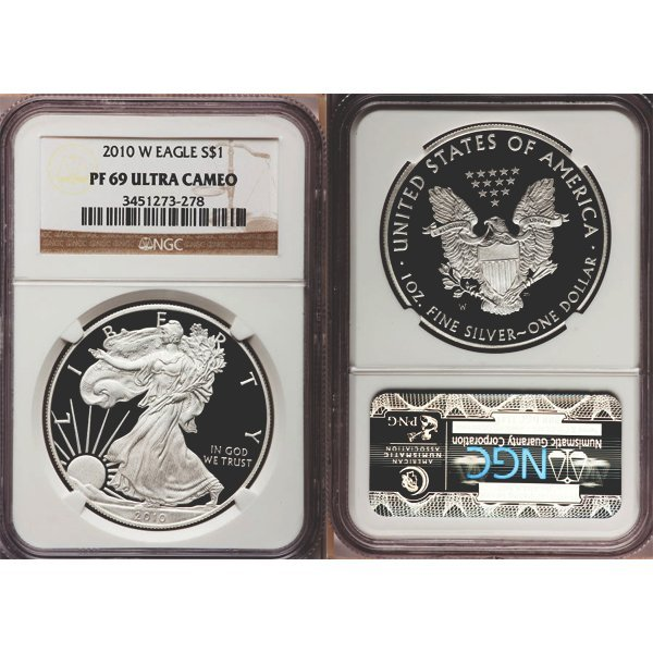 2010-W Proof Silver Eagle PF69 NGC