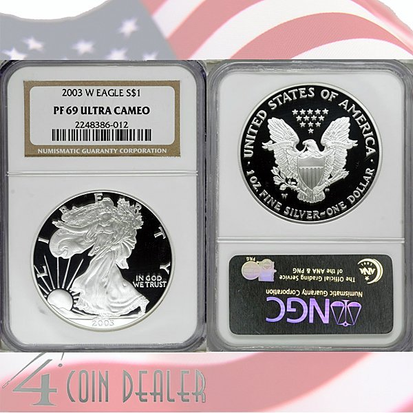 2003-W Proof Silver Eagle PF69 NGC