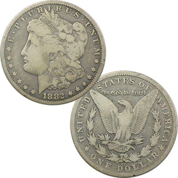 1882-CC $1 Morgan Dollar - Fine