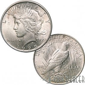 1925 $1 Peace Silver Dollar - Uncirculated