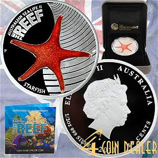 2011-P 1/2 Oz Proof Silver - The Reef Starfish
