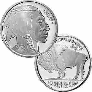 2012 1/2 Oz Buffalo Design Silver Round .999 Fine