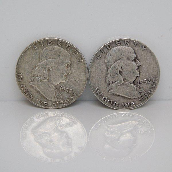 $1 Face Value of 90% Silver Franklin Half-Dollar
