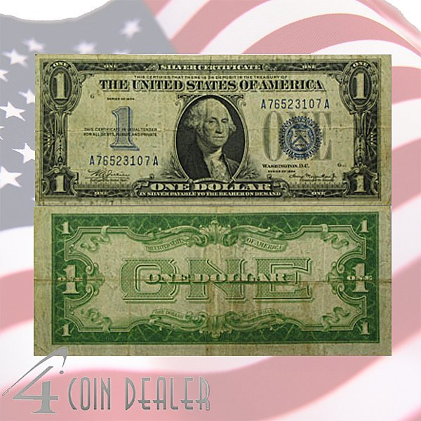 1934 $1 Bill - Silver Certificate - Very Fine