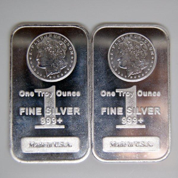 2-Bar Set: Morgan Design .999 Silver Bar