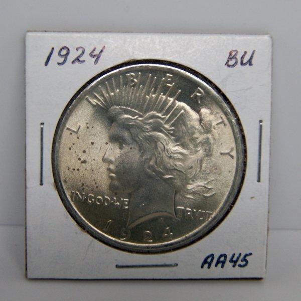 1924 Peace Silver Dollar - Uncirculated #AA45