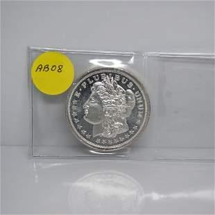 1 Oz Morgan Design .999 Fine Silver Round #AB08