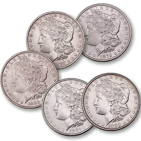 (5) Morgan Silver Dollars