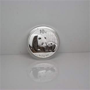 2011 1 Oz Silver Panda - Brilliant Uncirculated